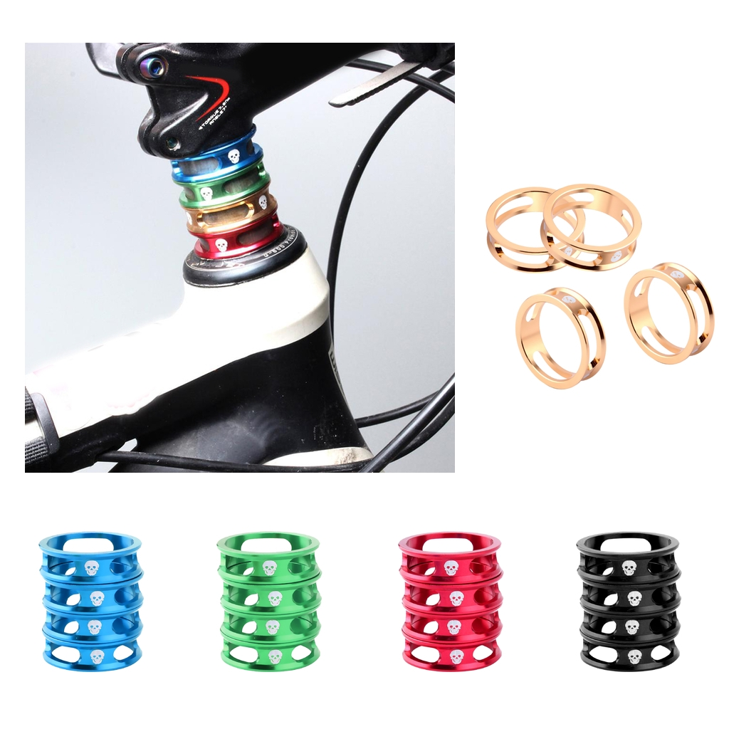 20 Pieces Bike MTB Headset Spacer 28.6mm Front Fork Stem Washer