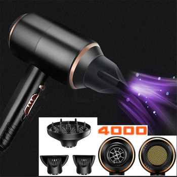Professional Hair Dryer 4000W Powerful Super Power Electric Blow Dryers Hot/cold Hairdryer Modeling Barber Salon Water Ions EU hair dryers barber shop specializes in dryer high power salon over 2000w domestic does not hurt