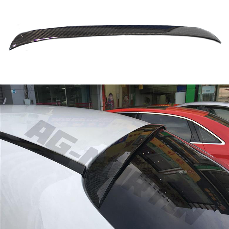 C Class <font><b>W205</b></font> Carbon Fiber Rear Roof Spoiler for Mercedes Benz <font><b>W205</b></font> Sedan 4 Door Only 2015-2017 C63 <font><b>AMG</b></font> <font><b>C200</b></font> C250 C180 C300 C350 image