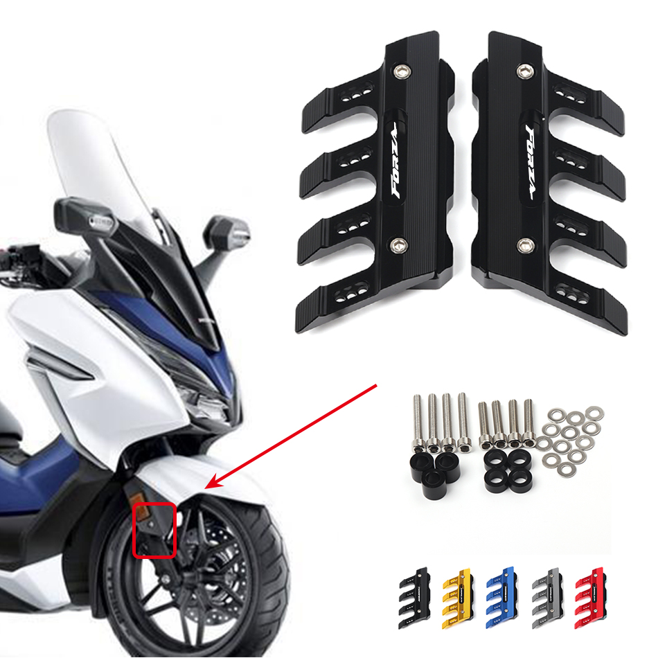 For Honda FORZA 300 125 250 350 Universal Motorcycle Mudguard Side Protection  Front Fender Cover Anti-fall Slider