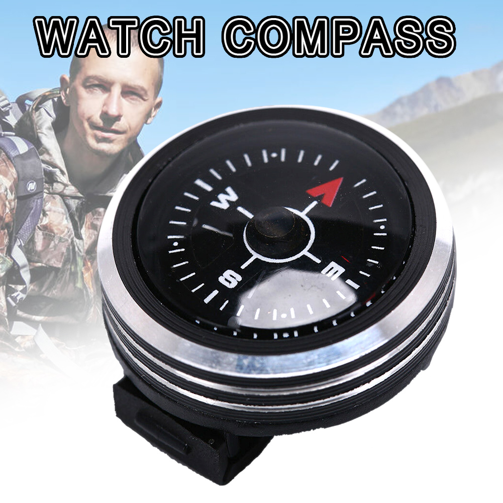 Браслет компасы портативные съемные часы полоса навигации запястье для кемпинга на открытом воздухе BHD2