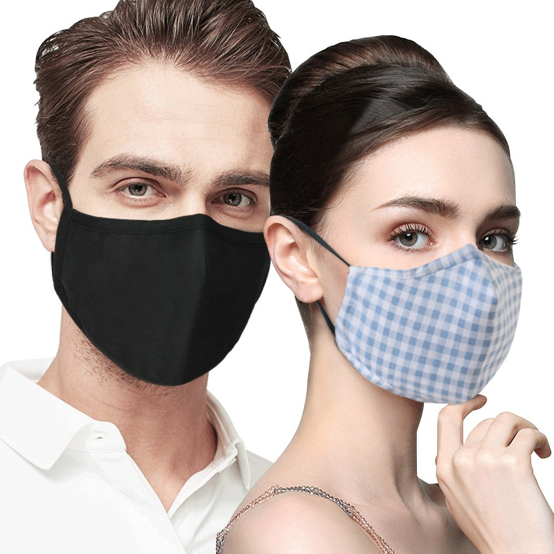 Men Women's Windproof Thicken 100% Cotton Mask Lady's PM 2.5 Filter Breathable Lattice Cotton Mouth-muffle Hot……`