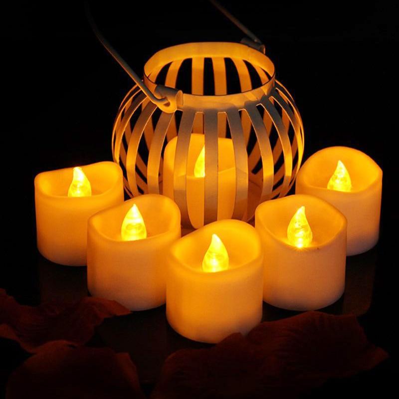 Светильник-свеча светодиодные мерцающие рождественские украшения для дома и свадьбы с батареей Романтический электронный бездымный подарок на день рождения