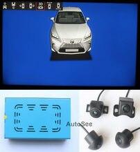Pour Lexus 360 degrés autour de la caméra de vue oeil d'oiseau AVM DVR 1080P, avec ligne de guidage d'inversion de direction active
