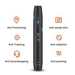 Detector de cámara oculta antideslizante portátil bolígrafo Wifi señal de radiofrecuencia espiar Pinhole Audio inalámbrico Bug GSM GPS buscador de dispositivos