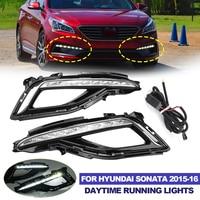 Front Bumper Led Drl for Hyundai Sonata 2015 2016 Car Daytime Running Light Driving Light Fog Light Lamp Accessories Headlight