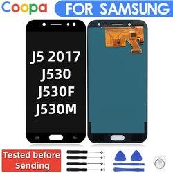 يمكن ضبط سطوع شاشات lcd لسامسونج غالاكسي J5 2017 J530 J530F J530M شاشة الكريستال السائل محول الأرقام بشاشة تعمل بلمس Assembl