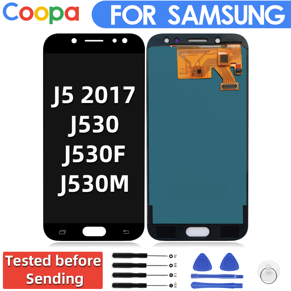 Can Adjust Brightness LCD For Samsung Galaxy J5 Pro 2017 J530 J530F J530M LCD Display Touch Screen Digitizer Assembl