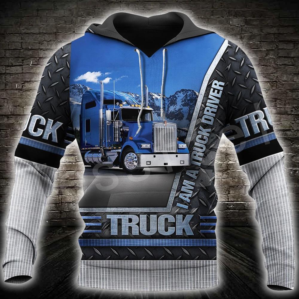 Tessffel Truck Trucker Driver Pullover Tracksuit NewFashion Crewneck Casual MenWomen 3Dprint Sweatshirts/Hoodies/Zip/jacket A-10
