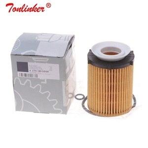 Image 3 - Yağ filtresi A2701800009 için 1 adet Mercedes b class W246, w242 2011 2019 B160 B180 B200 B220 B250 Model yüksek kaliteli yağ filtresi + kutu