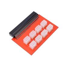 8 Ports PCI e 6 Pin Mining 1200W PSU Power Supply Riser Board Adapter for DPS 800GB UM 1200FB UM 1200QB UM DPS 750RB PS 2112 5L