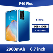 Soyes P40 Plus 6.7 Inch Mobiele Telefoons Android 3Gb Ram 32Gb Rom Smartphones Waterdicht 4G Lte Mobiele telefoons Gezicht Unlock Telefoons