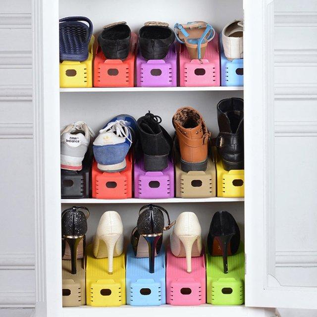 New Fashion Shoe Racks Modern Double Cleaning Storage Shoes Rack Living Room Shoebox Shoes Organizer Stand Shelf Dropshipping 1
