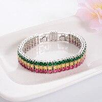 Zircon Crystal Charm Bracelet Wedding Jewelry Long Fashion Wedding Chain Bracelets for Women