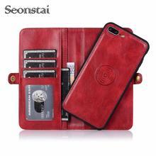 Чехол-кошелек для iPhone11 pro Max, кожаный чехол для iPhone7Plus, 8 Plus, XR, Xs Max, откидной магнит, многофункциональный, 2 в 1, чехол-кошелек, полный