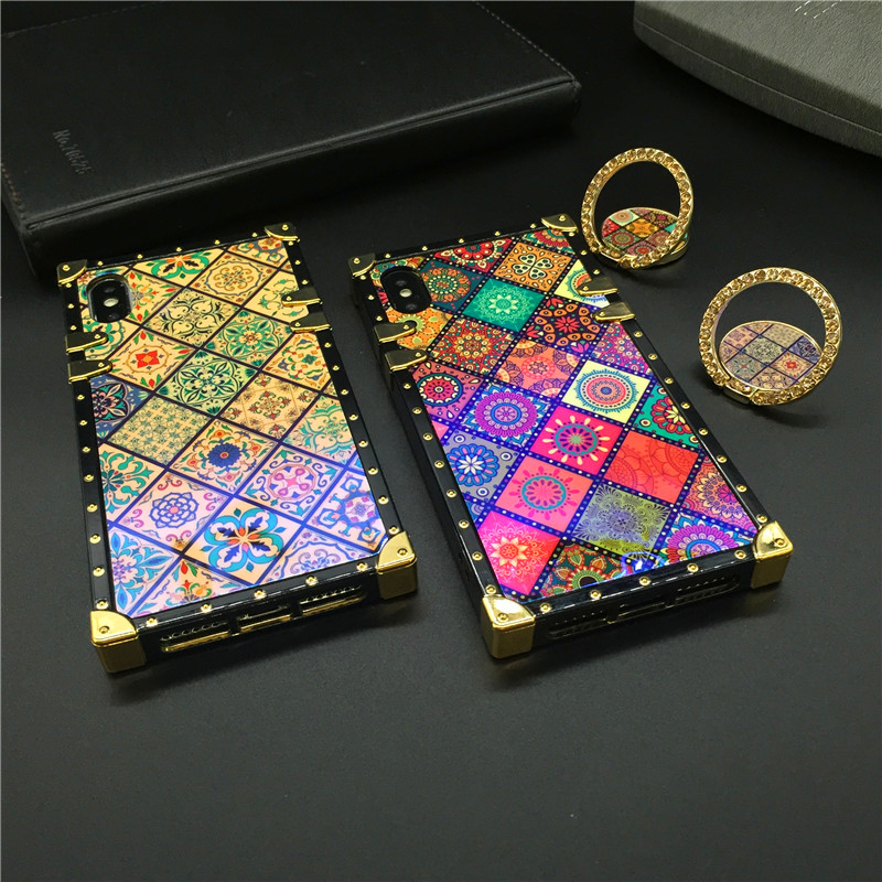 Luxury Brand Plaid Square <font><b>Case</b></font> for <font><b>Huawei</b></font> Mate 20 Pro P30 P20 Lite Honor 20 8X 10 Nova 5 4E 3 3i 3E Y6 <font><b>Y7</b></font> Y9 <font><b>2019</b></font> Phone Cover image