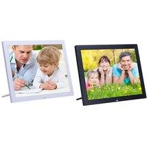 15 inch 4:3 LED Digital Picture Frame Remote Control Calendar Alarm Clock Electronic Album 1024 X 768 Smart Photo Music Movie