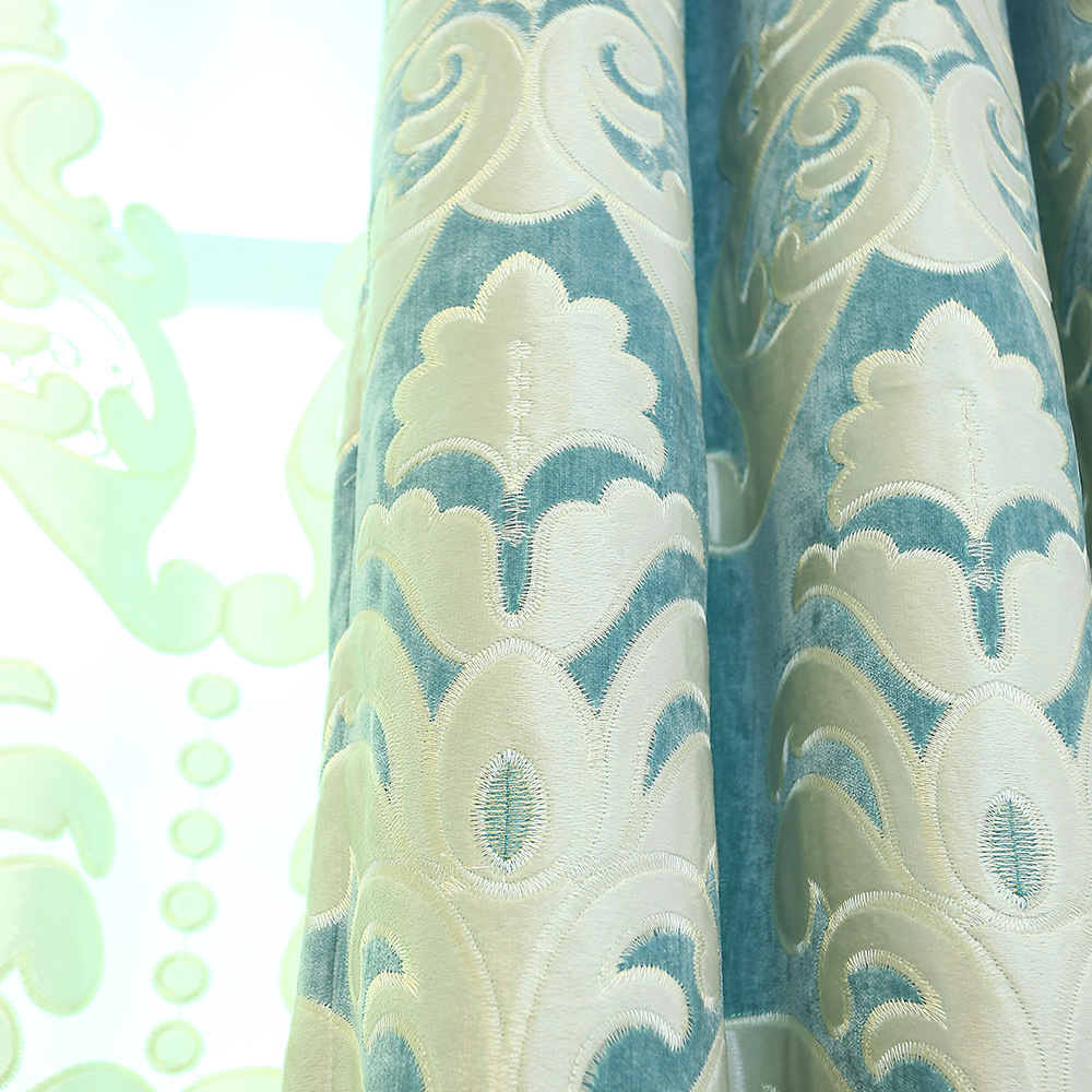 European and American classical style curtains for living room bedroom  curtain embroidered high blackout high end curtain