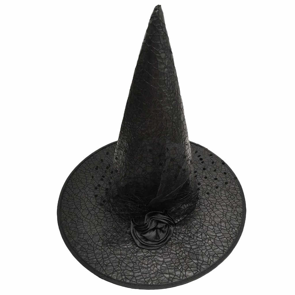 Cappello di Halloween Per Bambini di Età Forniture Dance Party Cappello della Strega osplay Accessorio del Costume Caps Del Partito Del Vestito Operato Decorazione Del Cappello Superiore