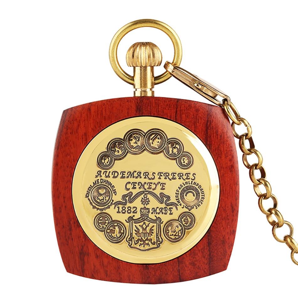 relógio de bolso mecânico com corrente de