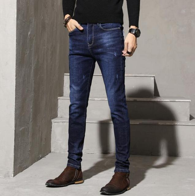2020 High Quality Slim fit Straight Jeans Fashion Classic Men Jeans Long Pants For Male