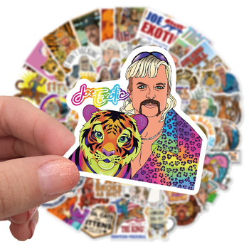 50pcs American Documentary Tiger King Waterproof Sticker For Luggage Wall Car Laptop Bicycle Motorcycle Notebook Toys Stickers image