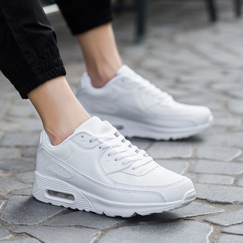 Sneakers Women Shoes Breathable Mesh Sports Casual Shoes Woman 2019 Autumn Solid Lace-up Wedges Plaform Shoes Women Sneakers