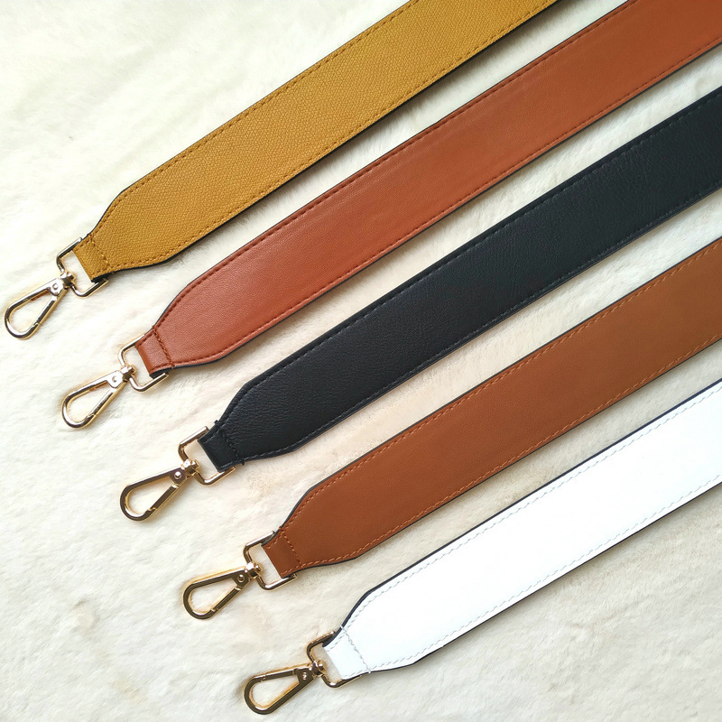 PU Leather Bag Strap Elegant Replacement Solid Color Shoulder Bag Straps Casual Lengthened Straps For Bags Accessories