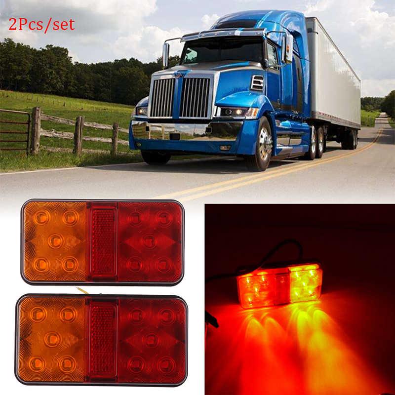 Farol led traseiro para caminhão de carro, 2 peças, 12v, 2w, 10, luzes traseiras para caminhão e carro, indicador de parada, luz traseira lâmpada de luz