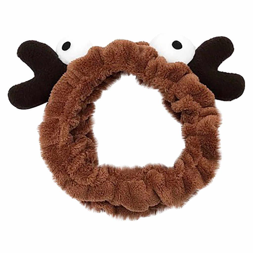 Рождественские аксессуары для волос, Женская эластичная лента для волос, мультяшный краб, большой глаз, Милая повязка для волос, заколки для волос для детей