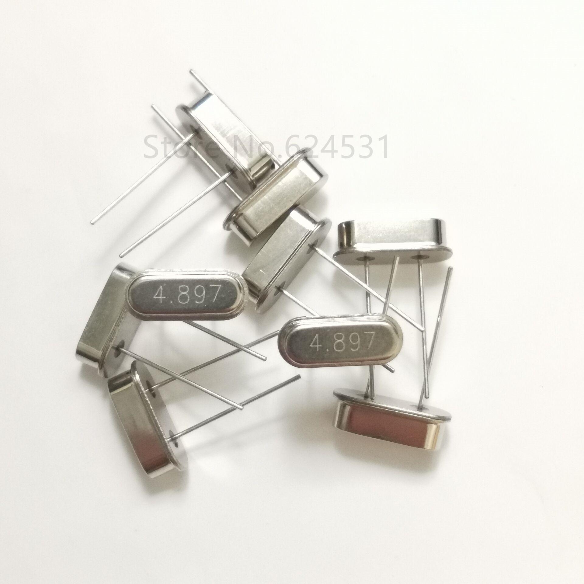 10pcs Crystal 4.897MHZ Inline Two Feet HC-49S Passive Crystal Resonator