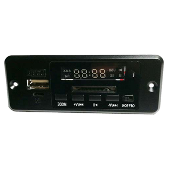 Mini USB Aux IN Car Audio Module DC 5V Digital Bluetooth MP3 Decode Board with  3W*2 Amplifier Rechargeable SD FM Radio