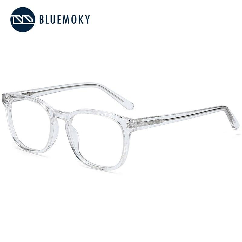 BLUEMOKY Transparent Acetate Prescription Glasses Frame Women Optical Eye Glasses Men Women Square Myopia Clear Eyeglasses New
