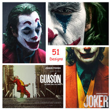 Joker 2019 Joaquin Phoenix - Movie Poster White/yellow Kraft Photo Paper Wallpaper Decoration 42 X 29.7cm(11.6*16.5 Inch)(China)