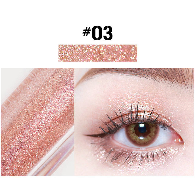 10 Colors Liquid Eye Shadow Diamond Glitter Eyeshadow Brush Pen Waterproof Long Lasting Shimmer Eye Shadow Stick Makeup Cosmetic 4