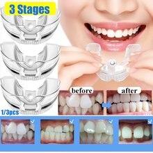 Correcteur dentaire orthodontique en Silicone, outils de retenue des dents pour adultes, outils de soins dentaires, 3 Phases