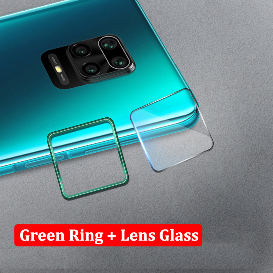 Camera Protector Metal Frame Ring + Tempered Glass For Xiaomi Redmi Note 9S 9 8 Pro Max 8T Case Back Lens Film Screen Protector(China)