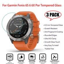 Novo 3 peças de proteção para garmin fenix 5 6x 5S 6s 6x 6 ultra claro vidro temperado filme protetor de tela acessórios vidro