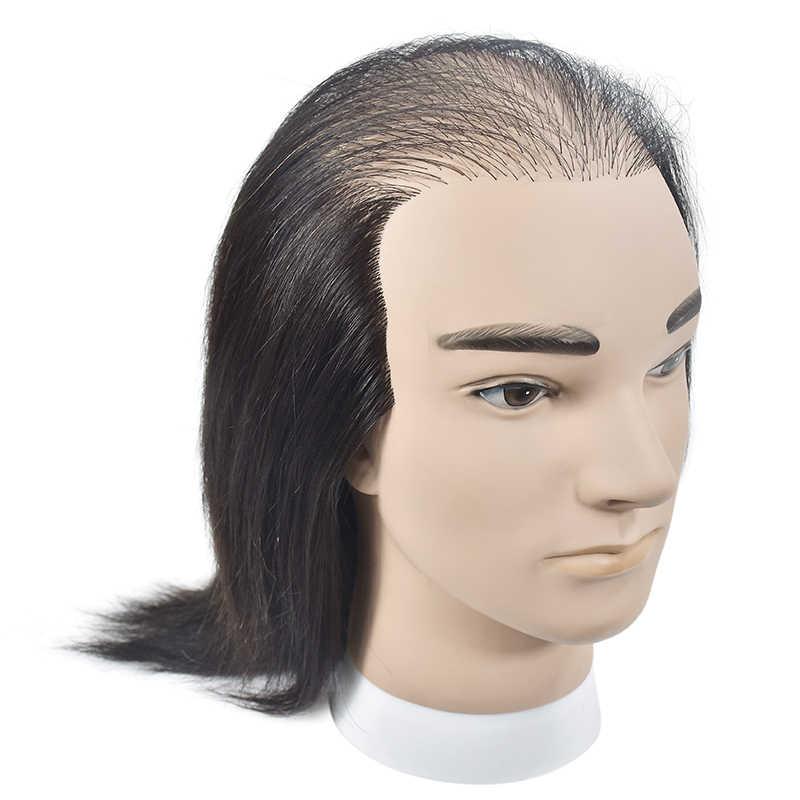 ชายหัวหุ่นมนุษย์ผมวิกผมจอแสดงผลตุ๊กตาการฝึกอบรมหัวผมสไตล์ฝึก Dressing