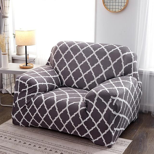 геометрический эластичный чехол для дивана на стул современный фотография
