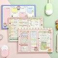 Милая мультяшная девушка планировщик записная книжка милый жемесячный недельный ежедневник привычка трекер записная книжка