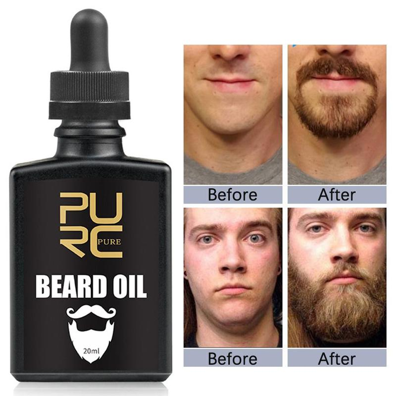 PURC Organic Beard Oil Hair Loss Products Beard Growth Oil For Growth Men Beard Gentlemen's Beard Hair Extension Pro Oil