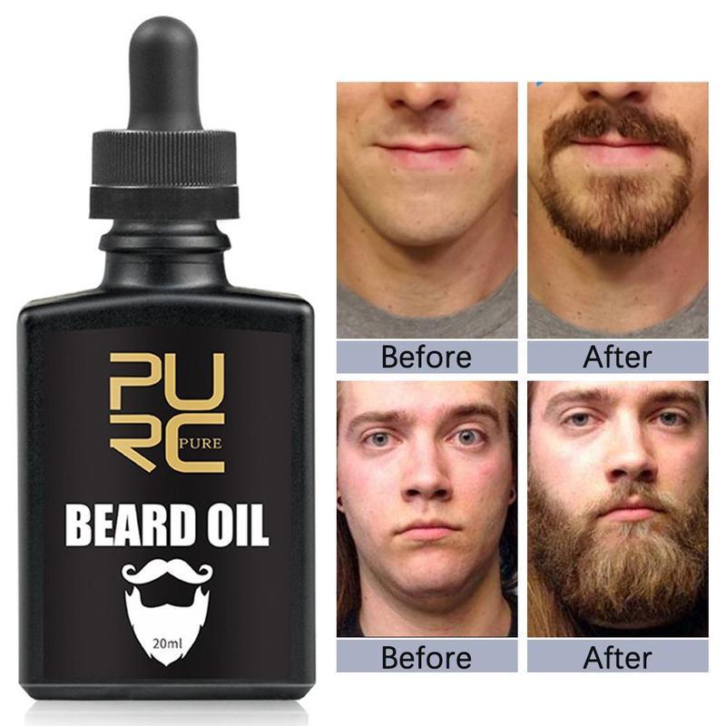 PURC Organic Beard Oil Hair Loss Products Beard Growth Oil For Growth Men Beard Gentlemen's Beard Hair Extension Pro Oil