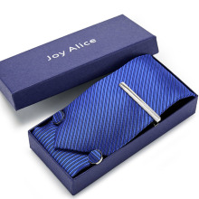 3.14inch(8 Cm) Wide Plaid Classic Mens Neckties Wedding Fashion Party Man Tie, Handkerchief, Pin and Cufflinks Gift Box Packing