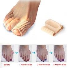 1 шт., разделители пальцев ног, мягкий защитный силиконовый выпрямитель, корректор для пальцев, корректор для большого пальца, для ухода за ногами, регулятор вальгусной деформации