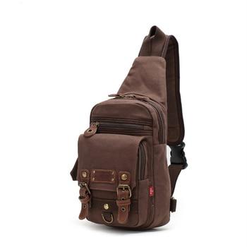 2021 Luxury Designer Canvas Sling Chest Bag For Men Military Cross-Body Shoulder Messenger Backpack Travel Causal Pack Bolso