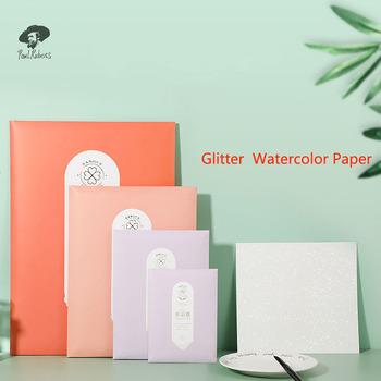 100 bawełna papier akwarelowy 300g brokat profesjonalny papier w kolorze wody na akcesoria do malowania tanie i dobre opinie CN (pochodzenie) lbslgugscb