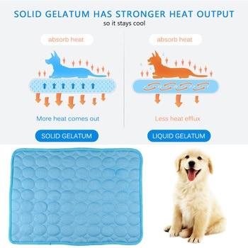 Summer Dog Cooling Mat Sky Blue Ice Pad Cool Pet Beds Sofa Cushion 4
