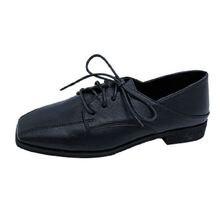 Женские маленькие кожаные туфли в британском стиле новые корейские