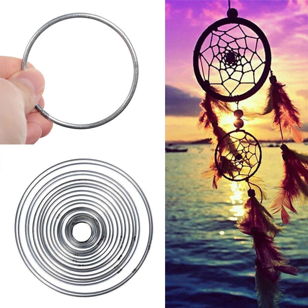 มาใหม่ 1PC โลหะรอบดีเชื่อมโลหะ Dream Catcher Dreamcatcher แหวน Mandalas Craft Hoop DIY อุปกรณ์เสริม